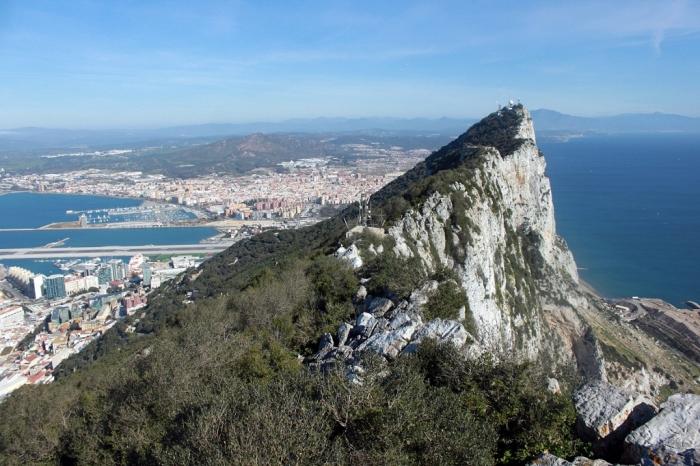 Sebagian sisi Jabal Tariq atau Rock of Gibraltar