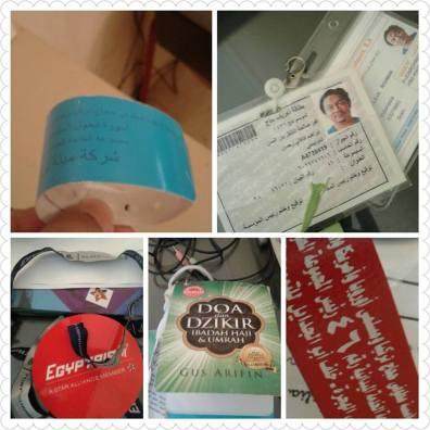 Identitas Haji yang kami pakai.... Lengkap dengan buku panduan yang kami beli sendiri dari Indonesia :D