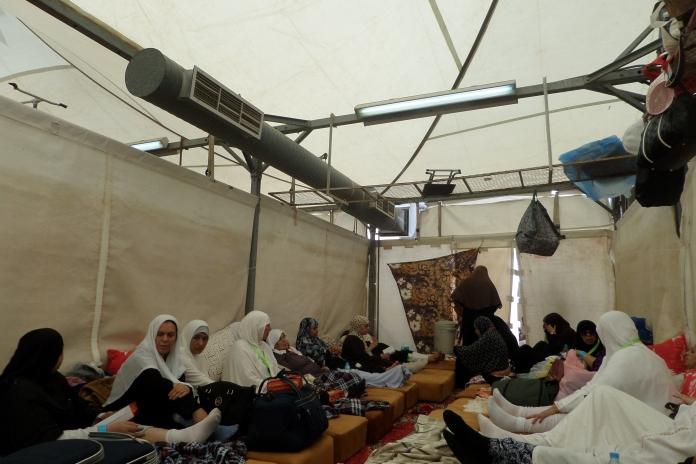Tenda kami di Mina