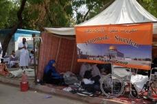 Salah satu tenda tetangga di Arafah